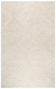 Geometric Natural Wool Rug