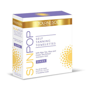 SunPop Tanning Towelettes Dark 5-Count