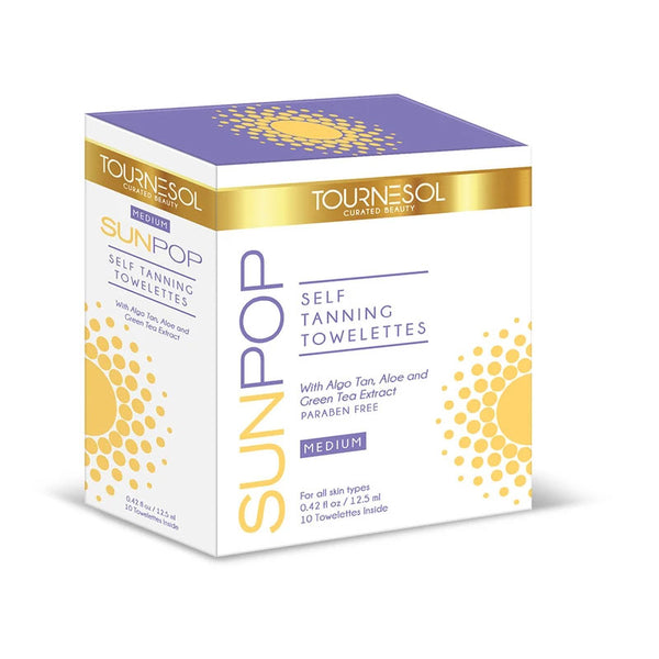 SunPop Tanning Towelettes Medium 10-Count - with Free PreTan Prep Gift!