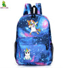 Cartoon Galaxy Dabbing Unicorn Backpack School Bags