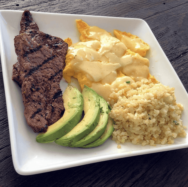 Example of a keto meal