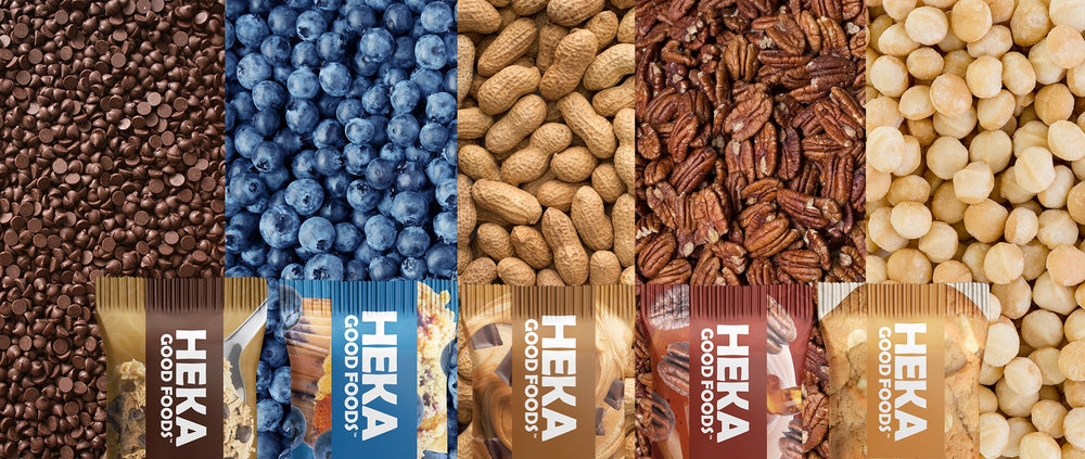 Heka good foods keto bars flavors hero image