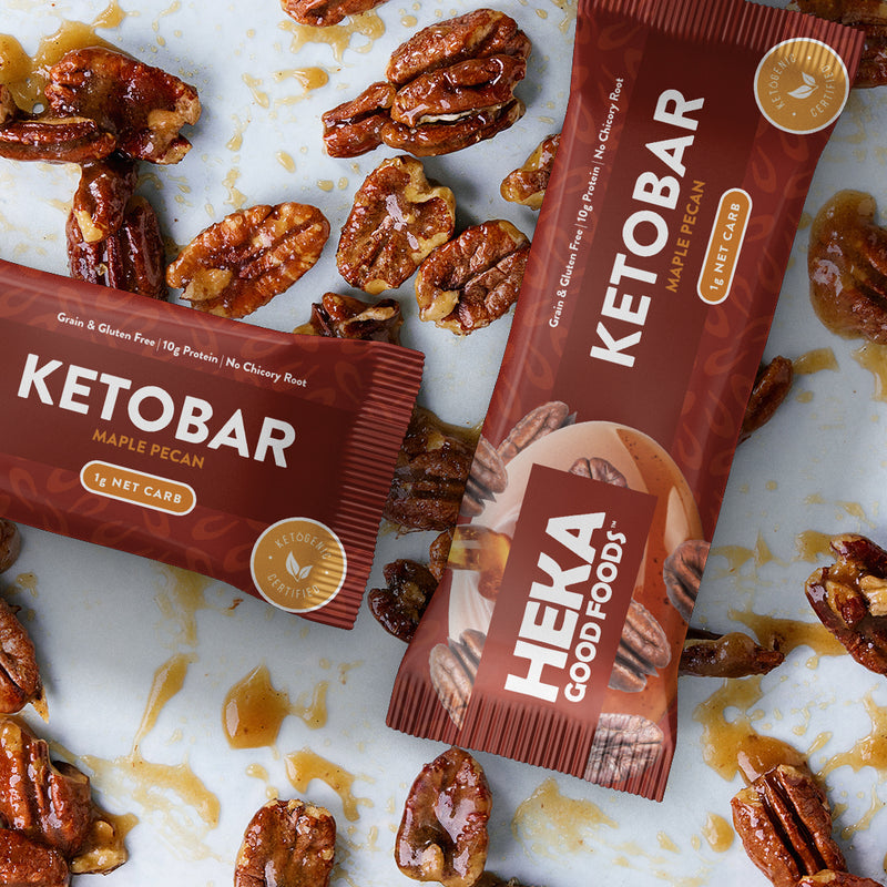 maple pecan heka good keto bar