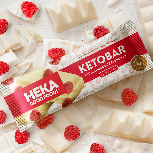 White Chocolate Raspberry Keto Bars (12 Pack)