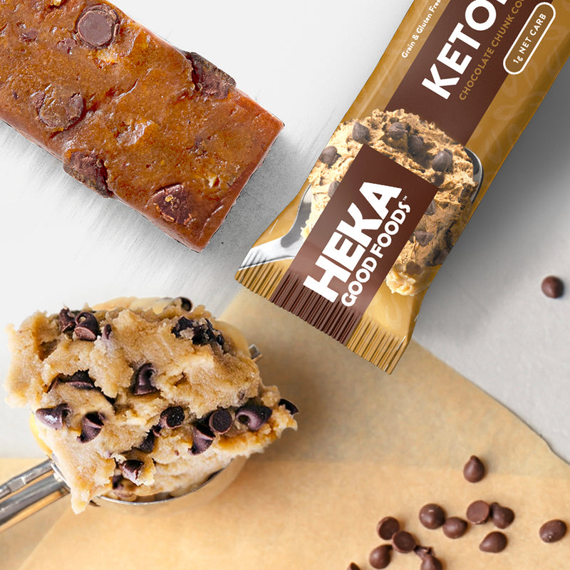 chocolate chunk Heka Good keto bar