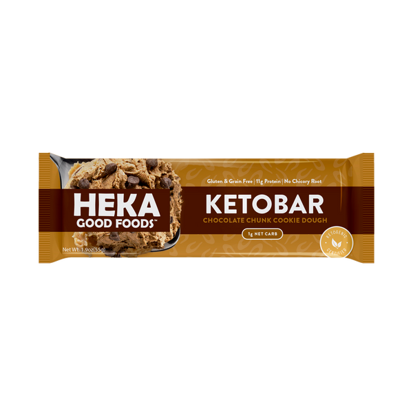 Chocolate Chunk Cookie Dough Keto Bars (12 Pack)