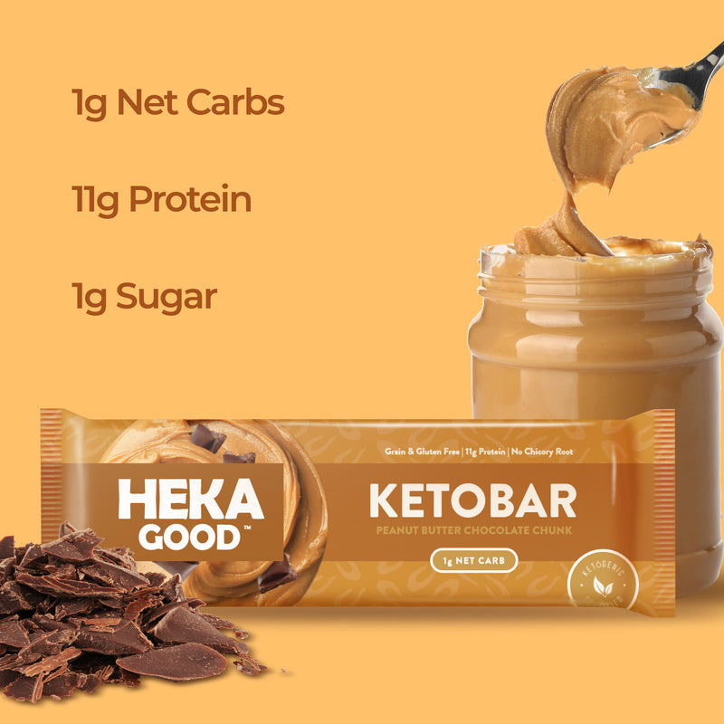 Peanut Butter Chocolate Chunk Keto Bars (12 Pack)