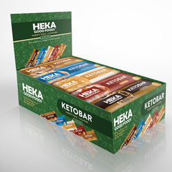 Heka Good Foods Keto bar variety pack box