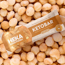 Heka good foods white chocolate macadamia nut keto bar main