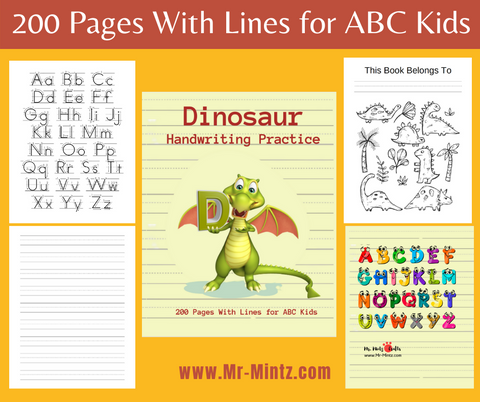 This kindergarten writing paper with lines for ABC kids 3-6 yo has 200 blank pages with dotted lines. The book teaches stroke formation and provides a full practice page for each capital and lowercase letter.