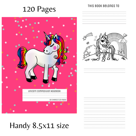 Story paper pages with a blank picture space on the top half and primary ruled lines on the bottom half of the page. The dotted midline and thick baseline make handwriting practice easier for kids in preschool and elementary school learning how to write.