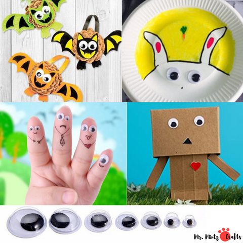 These Googly Eyes are sorted by size in a box, the box is transparent and easy to carry. And the stickers are easy to peel off, you can stick them on any places.
