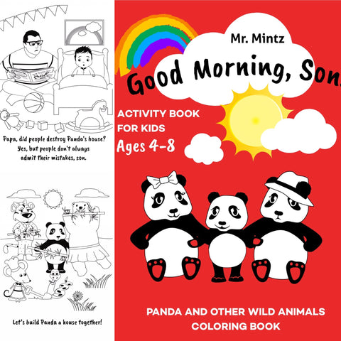 coloring activity book good morning son