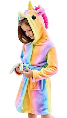 Unicorn Hooded Bathrobe Sleepwear