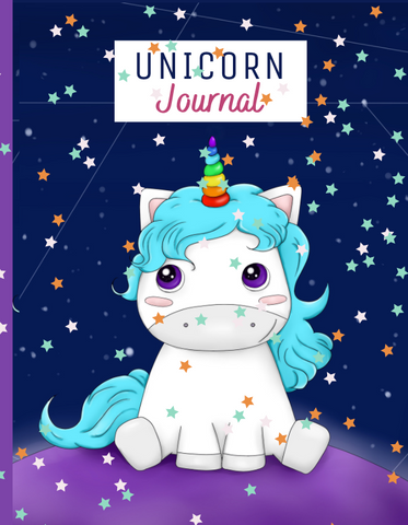 "This notebook is printed on high-quality paper and is perfectly sized at (8""x10""), so it's easy for kids to carry or to slip in a purse or bag. The Unicorn themed cover has a beautiful matte finish that is both soft and easy to grip."