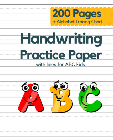 This Handwriting workbook helps kids of all ages to start learning letters of the alphabet and to improve their handwriting. Trace the letters and practice handwriting in this awesome and crazy lined paper book with dotted grid for practicing handwriting. Use it for personal practice at home or for your entire classroom.