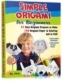 This simple origami book for beginners is specially designed to hold your child's interest as for as long as possible with simple origami folds such as easy origami fishes, birds and animals that are challenging enough to give your kids a sense of fulfillment and will help them build fine motor skills and develop their creative sides.