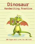 Does your child love Dinosaurs? Are you looking for a fun way to improve your child's handwriting? Make your young dinosaur fans look forward to going back to school! This kindergarten writing paper with lines for ABC kids 3-6 yo has 200 blank pages with dotted lines, alphabet tracing chart and dinosaur coloring page.