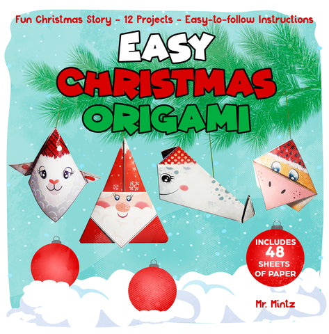 In Easy Christmas Origami, your kids are going to learn how to magically transform a piece of paper into cute animal figures in no time at all! Each project in Easy Christmas Origami also features a QR code for quick access to a video tutorial of a young origamist folding the same piece.
