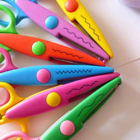Kids can create fun designs with these safety scissors!  Children Safety Scissors offer round tips and plastic blades that can only cut paper and card, you don't have to worry about your kids cutting their fingers or hair.