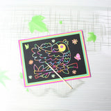 Scratch Art Set, 10 Piece Rainbow Magic Scratch Paper for Kids