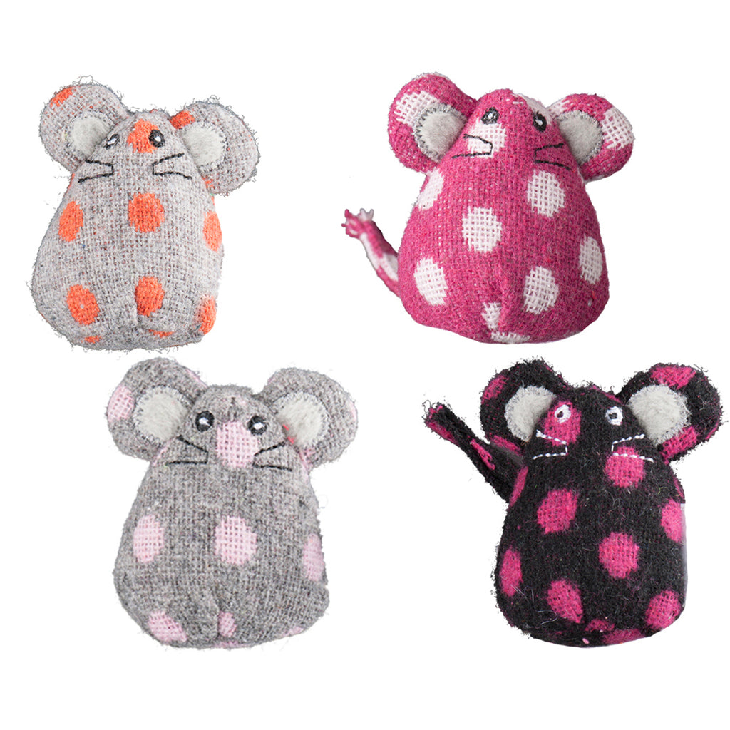 HuggleKats® 16-Piece Collection of Polka Dot Mice