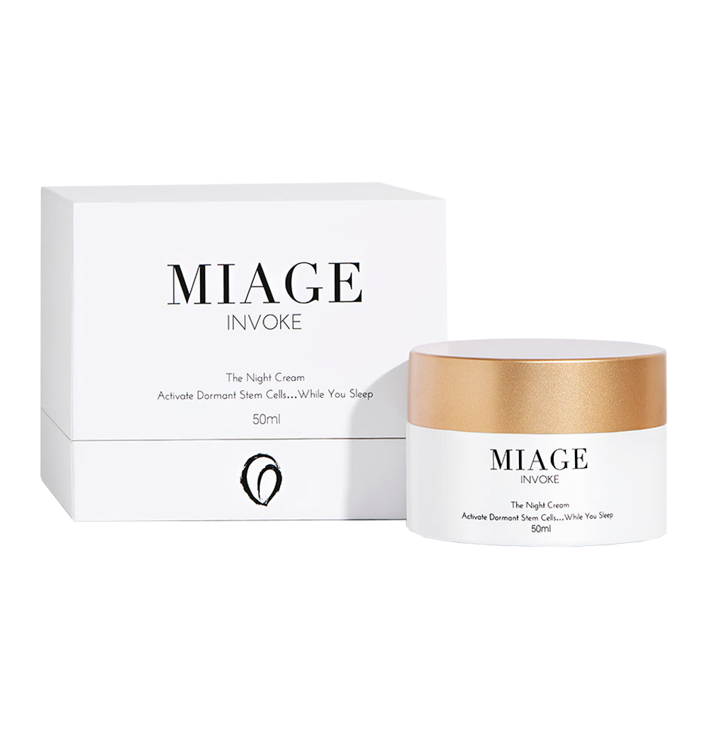 INVOKE <br/><span>The night cream</span><br/> <i>Micro-molecule nutrient delivery </i>