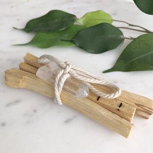Katies Beauty Kitchen | Palo Santo Clear Quartz Bundle | Katies Beauty Kitchen