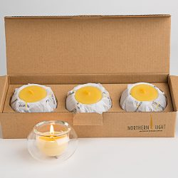 Northern Light | Beeswax Candles. - 3 Tea-lights 3 Light Bubbles | Katies Beauty Kitchen