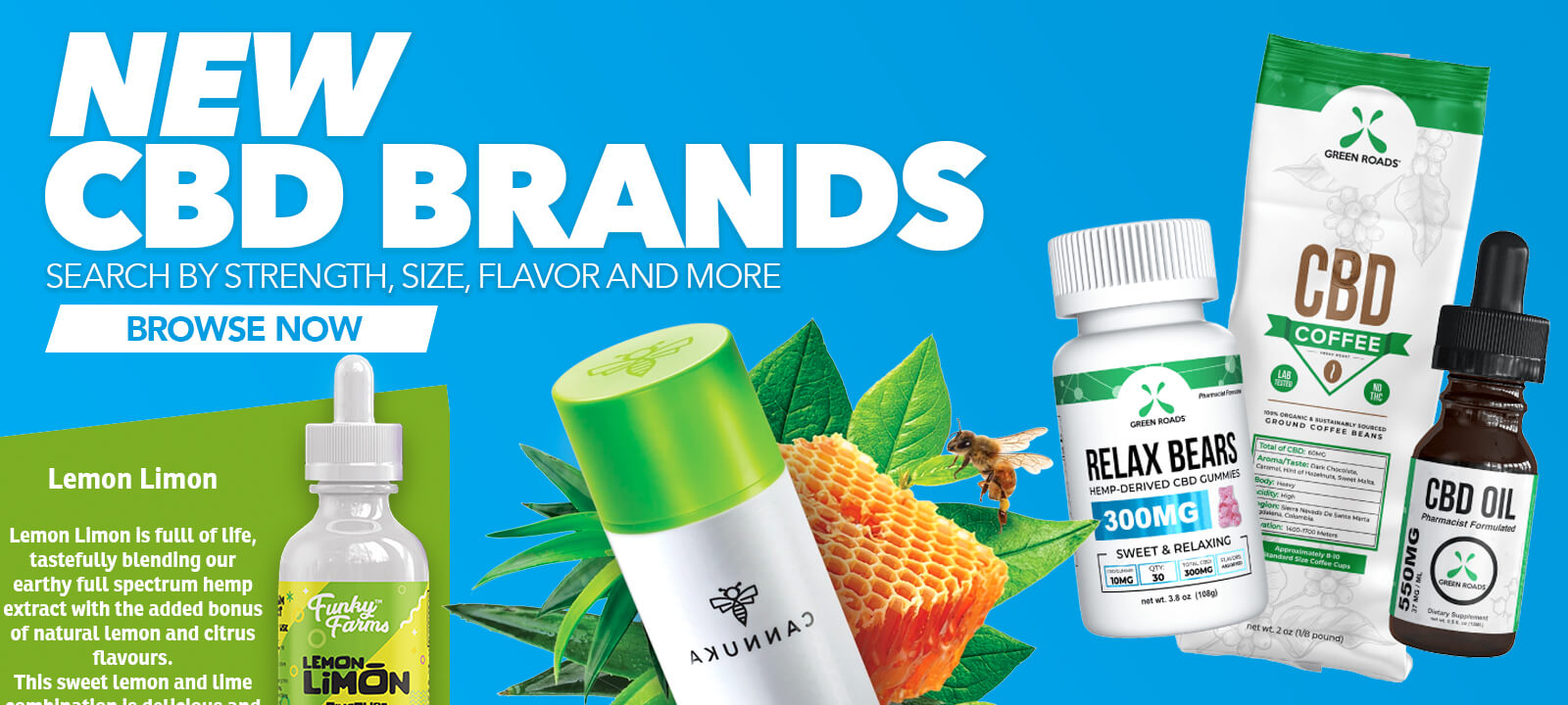 New CBD Brands now available