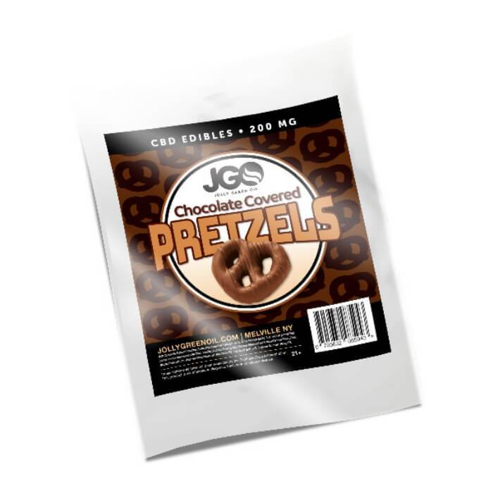 Chocolate Covered Pretzels CBD Edible by Jolly Green Oil