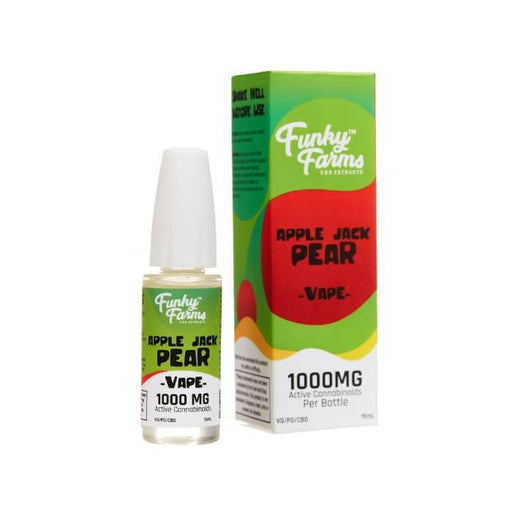 Funky Farms Apple Jack Pear CBD Vape Juice