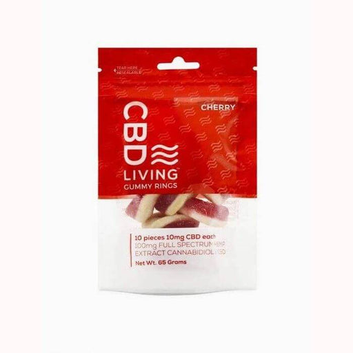 CBDLiving Cherry Gummy Rings Bag