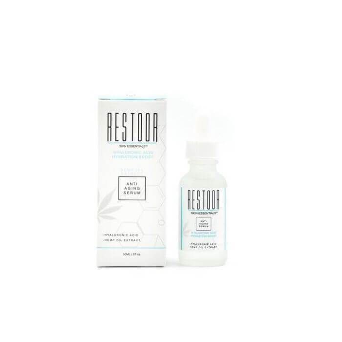 Restoor Skin Essentials CBD Hyaluronic Acid Hydration Boost Anti Aging Serum