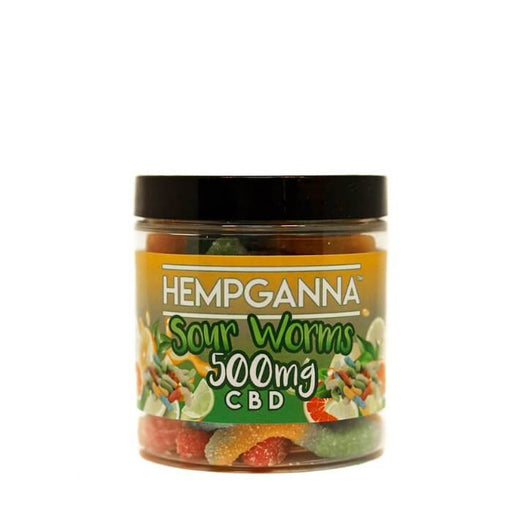 Hempganna CBD Sweet Relief Sour Worms Soft Candy