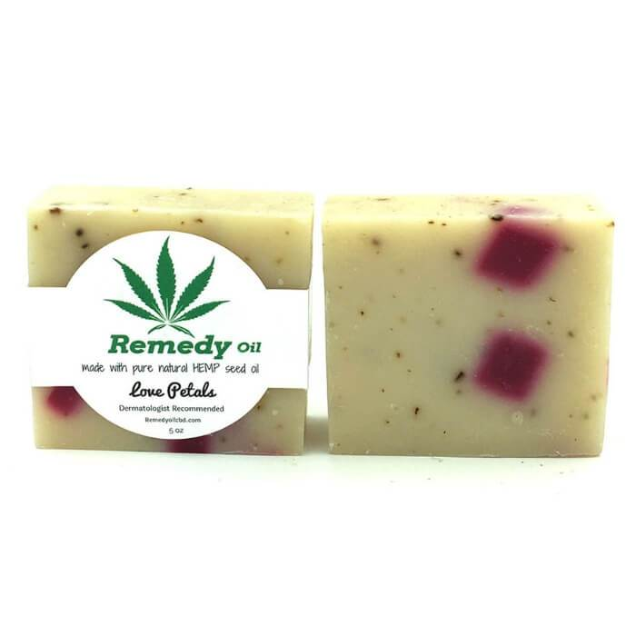 Remedy Oil CBD Love Petals Hemp Seed Oil Soap Bar