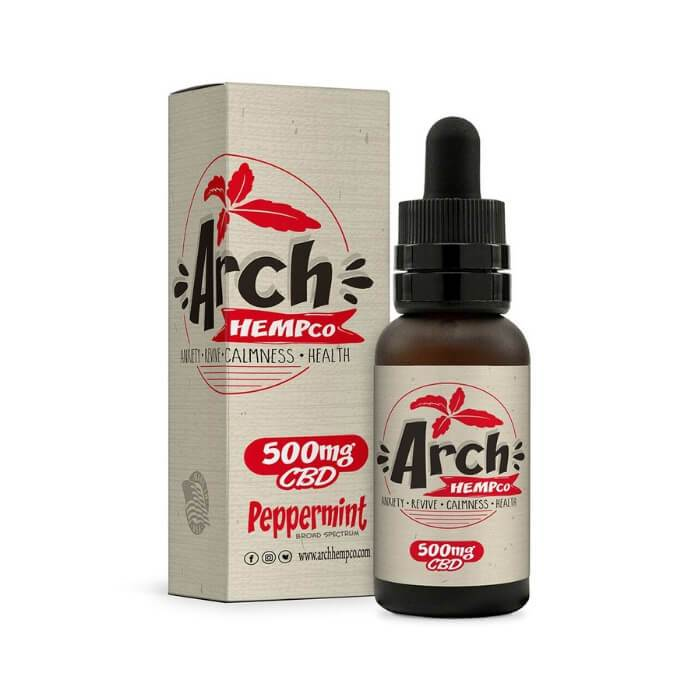 Arch Hemp Peppermint Broad Spectrum CBD Tincture