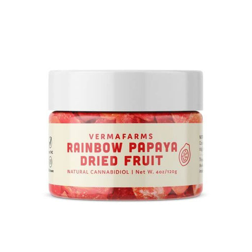 Verma Farms Rainbow Papaya CBD Dried Fruit