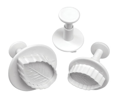 Mondo Rose Leaf Plunger Cutter Set 3PCE