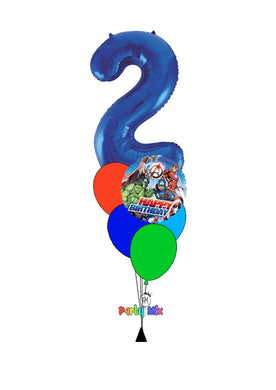 Number Character Foil Balloon Bouquet