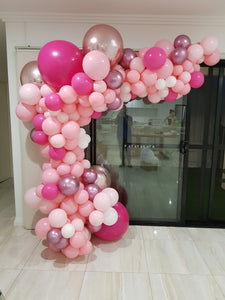 Pink & Rose Gold Balloon Garland