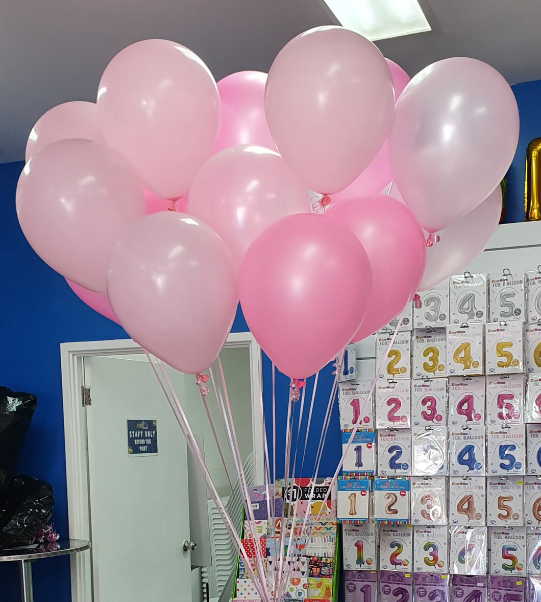Loose Helium Filled Latex Balloons