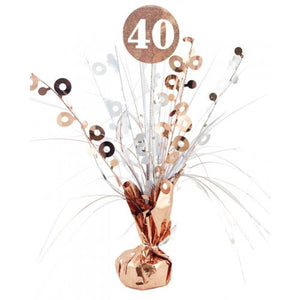 #40 Rose Gold & White Centrepiece Weight