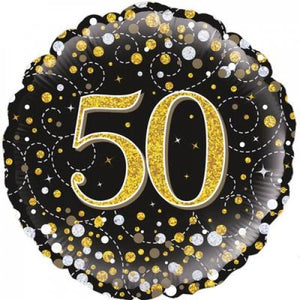 Sparkling Fizz Black & Gold 50th