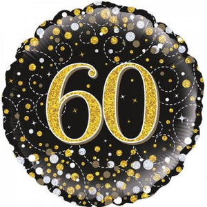 Sparkling Fizz Black & Gold 60th