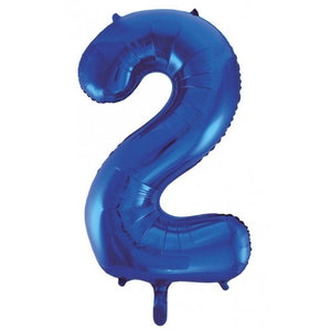Dark Blue Number Foil Balloons