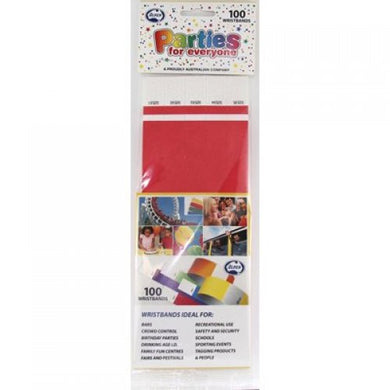 Bright Red Tyvek Wristband P100