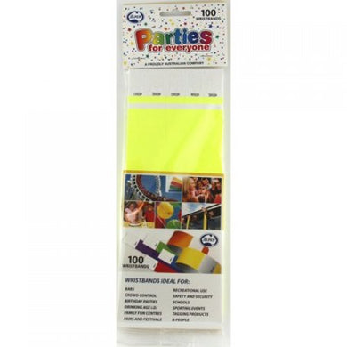 Fluro Yellow Tyvek Wristband P100