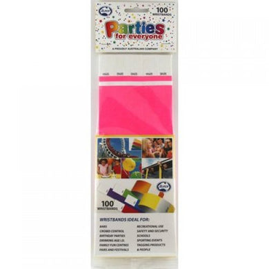 Hot Pink Tyvek Wristband P100