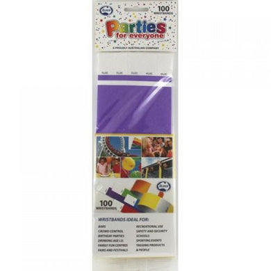 Fluro Purple Tyvek Wristband P100